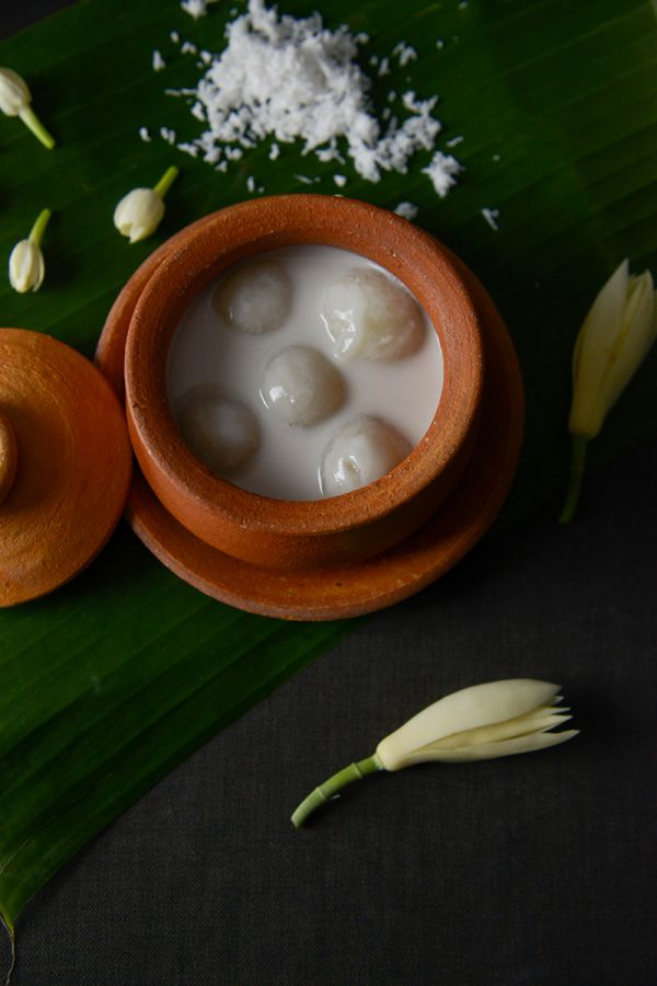 Ma Maison : Sticky Rice Dumplings Stuffed with Shreds of Caramelized Coconut in Fresh Coconut Milk