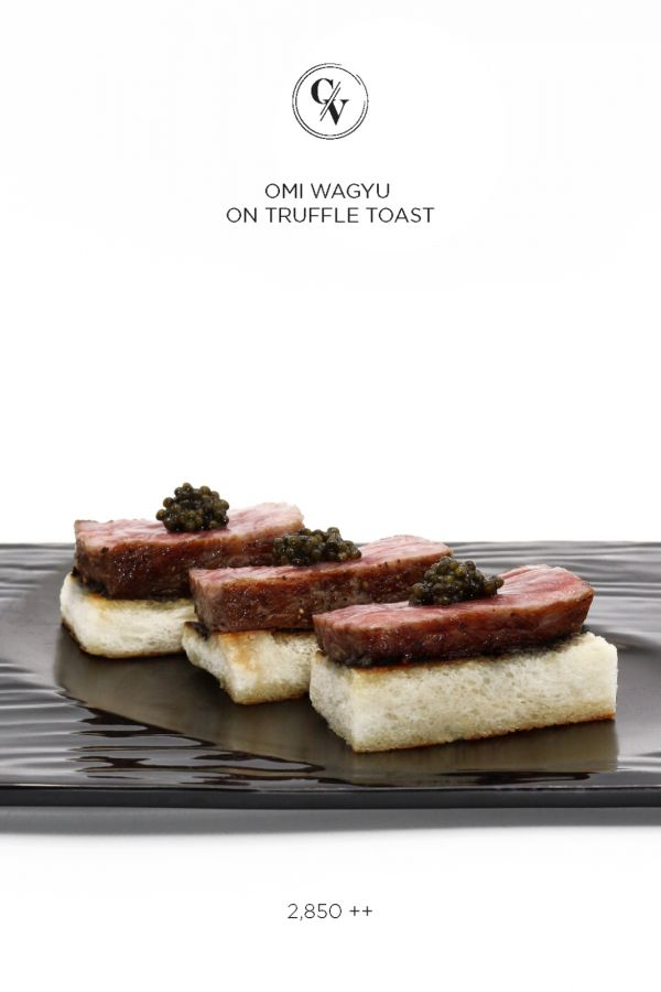Caviar Cafe : OMI WAGYU ON TRUFFLE TOAST