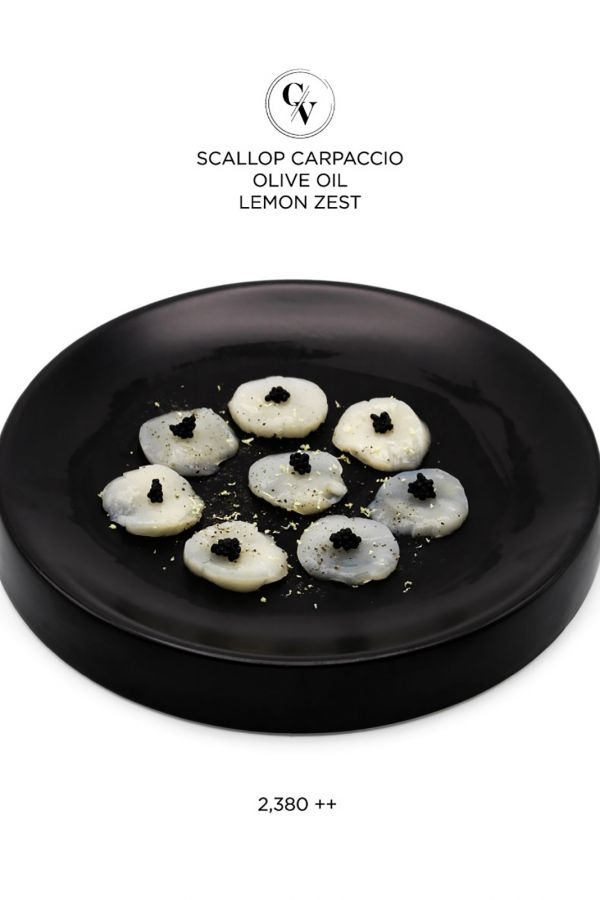 Caviar Cafe : Scallop Carpaccio Olive Oil Lemon Zest