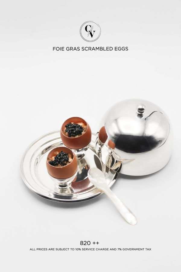 Caviar Cafe : Foie Gras Scrambled Eggs