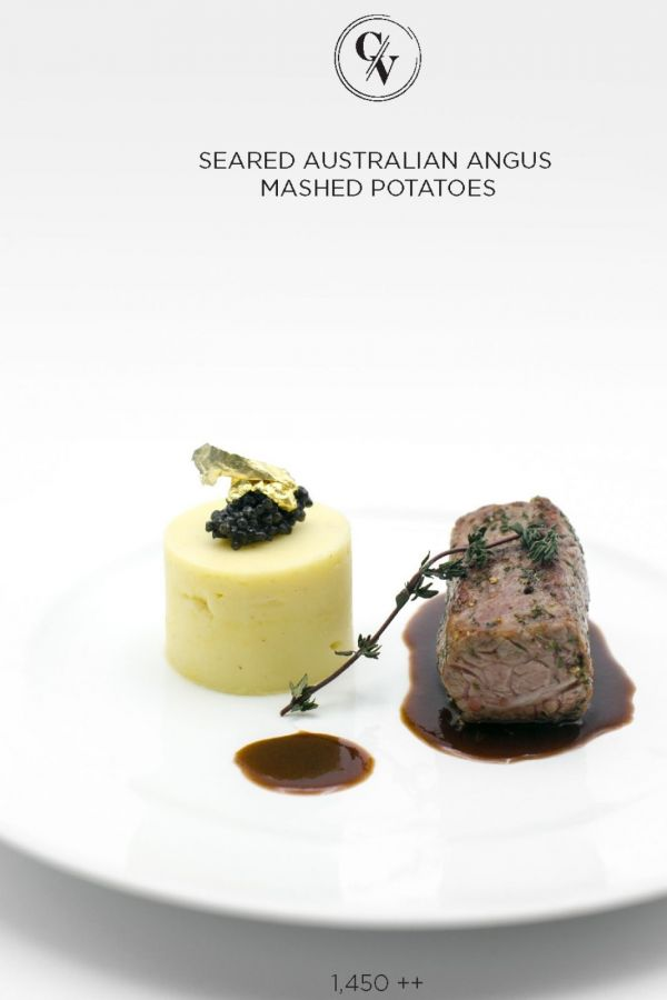 Caviar Cafe : Seared Australian Angus Mashed Potatoes